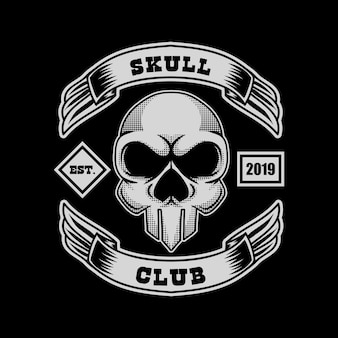 Skull club vector illustration