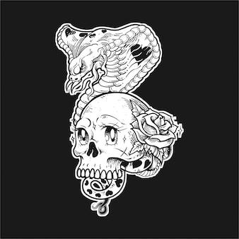 頭蓋骨コブラ