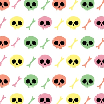Skull and crossbones seamless pattern for wallpaper wrapping packing and backdrop