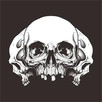 Skull in the dark