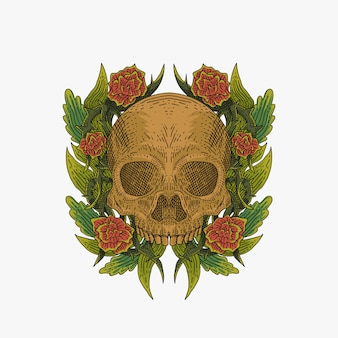 Skull decoration vector illustration