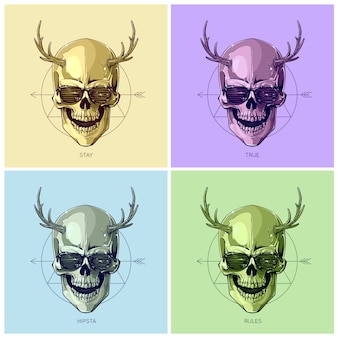 Skull design collection