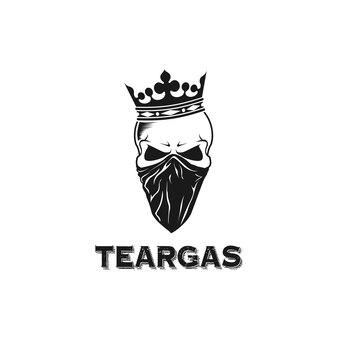 Skull design logo using crown and bandana