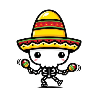 Череп дизайн играет мексиканская музыка