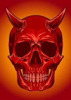 Skull devil vector illustration