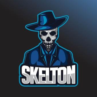 Шаблон логотипа skull e sport