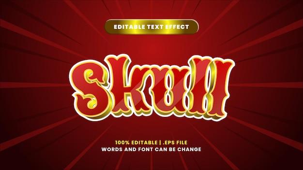Skull editable text effect in modern 3d style