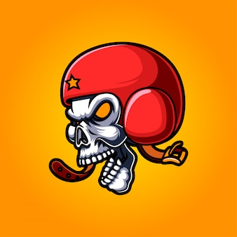 Skull esport mascot logo design