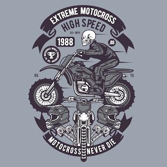 Skull extreme motocross