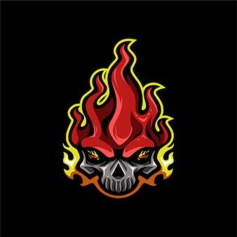 Skull fire esportのロゴ