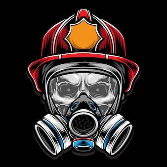 Skull fire fighter