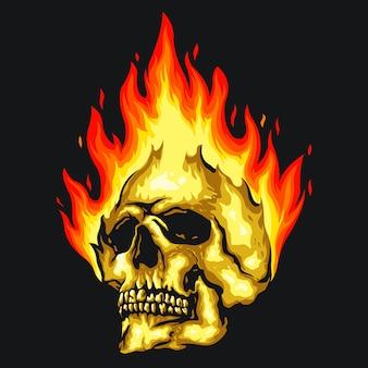 Skull fire illustration