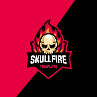 Skull fire sport illustration vector