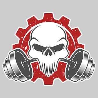 Skull fitness logo