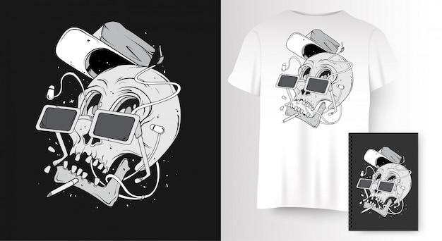 Череп для печати на футболке