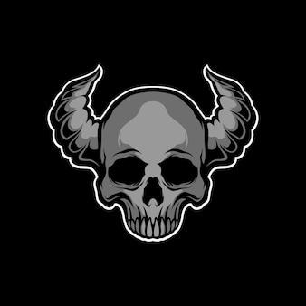 暗闇からの頭蓋骨