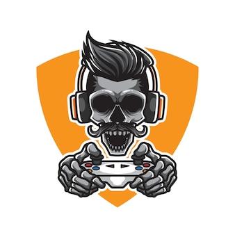 Skull gamers illustration