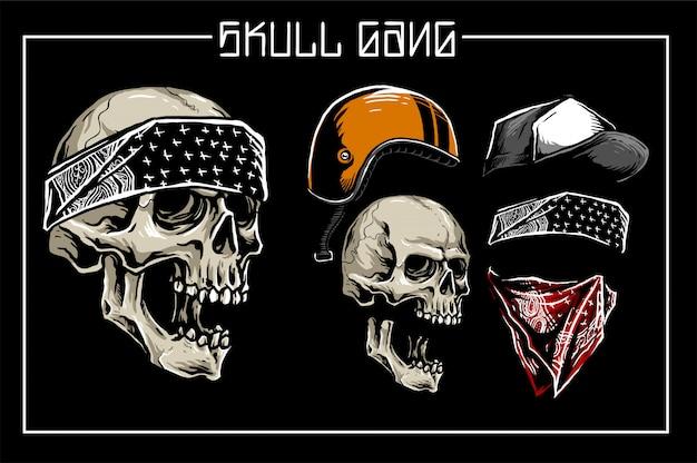 Skull gang set