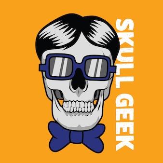 Skull geek illustration