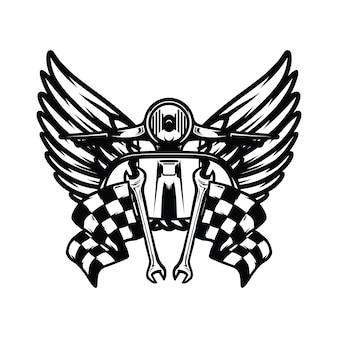 スカルゴーストライダー道路ベクトルロゴデザインイラスト