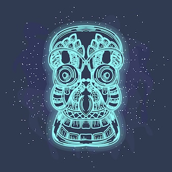 Skull gost glow art