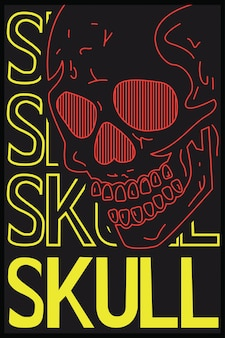 Skull graphic for tshirt