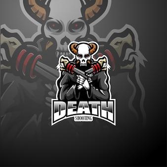 Skull gunners esport mascot logo