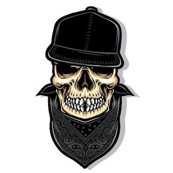 Skull hardcore vector