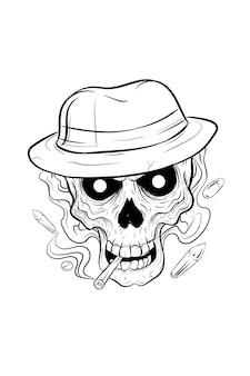 Skull hat and drug vector illustration