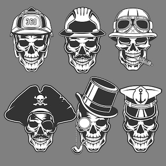 Skull head character