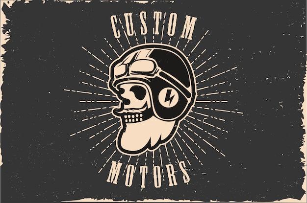 Skull head custom motor