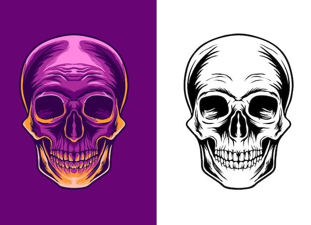 頭蓋骨の頭のイラスト