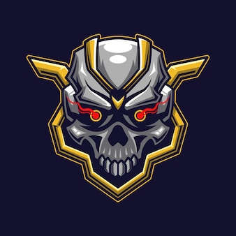 Skull head logo concept