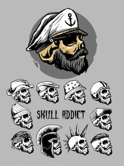 Skull head set