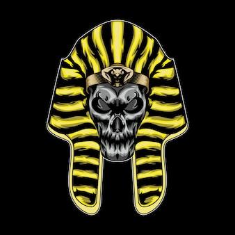 Skull head spink vector illustration
