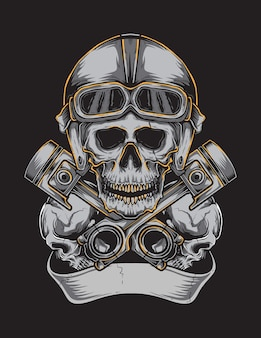 Skull helm vector