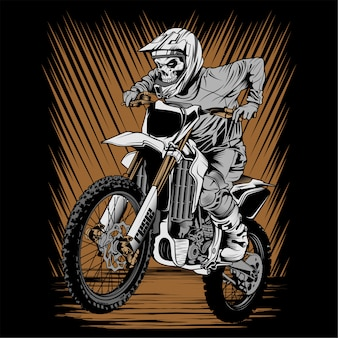 Skull helmet riding motor cross