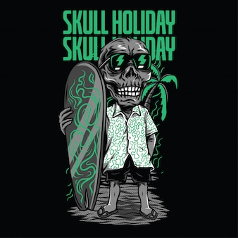 Skull holiday illustration