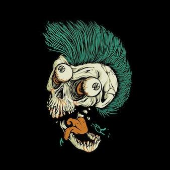 해골 공포 예술 그림
