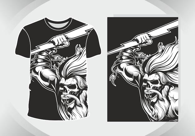 Skull for illustration and t shirt