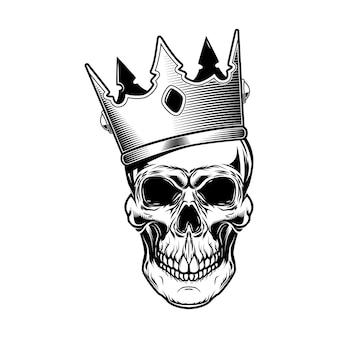 キングクラウンイラストの頭蓋骨