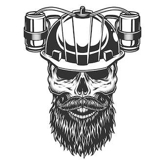 ビールのヘルメットの頭蓋骨