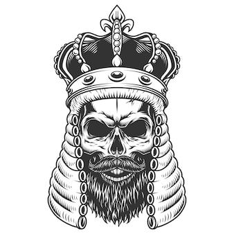裁判官かつらの頭蓋骨