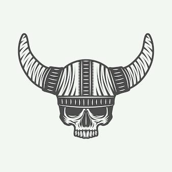 Череп в шлеме викинга