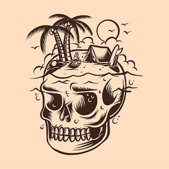 Череп остров кемпинг рай