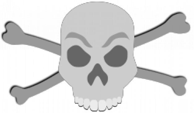 Skull jawless with cross bones