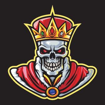 Skull king esport logo illustration