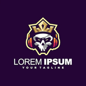 Skull king music logo design