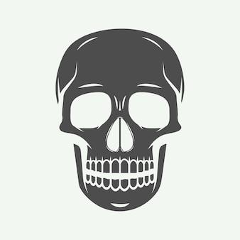Skull label, emblem