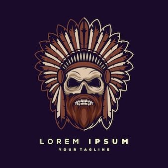Skull logo design vector